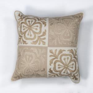 Kas Damask Pillow L131 Beige - Ivory