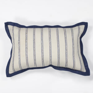 Kas Nautical Stripes Pillow L167 Ivory