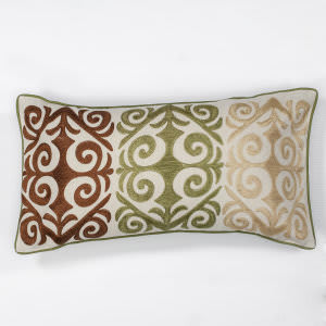 Kas Damask Pillow L171 Ivory - Multicolor
