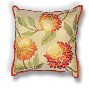 Kas Chrysatham Pillow L173 Red
