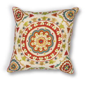 Kas Suzani Pillow L174 Red