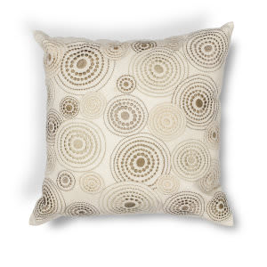 Kas Concentric Pillow L186 Ivory