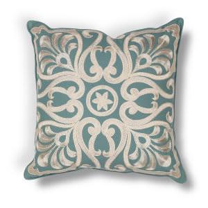 Kas Damask Pillow L189 Teal