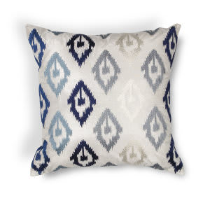 Kas Ikat Pillow L207 Blue