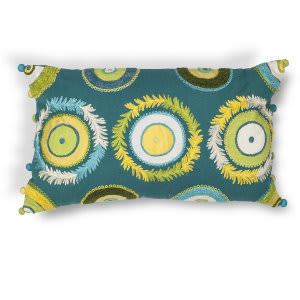Kas Circles Pillow L218 Blue - Green