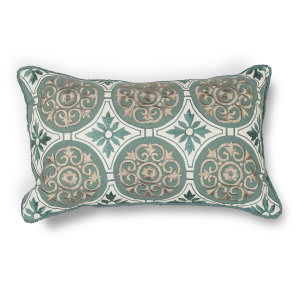 Kas Medallions Pillow L219 Teal