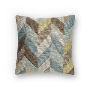 Kas Herringbone Pillow L235 Ocean