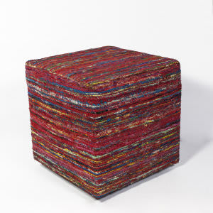 Kas Viscose Pouf F800 Red