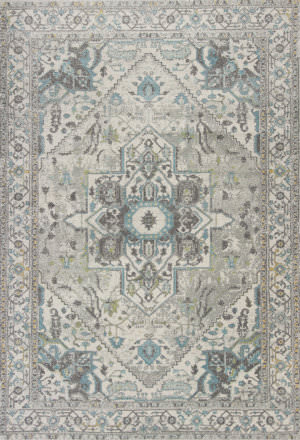 Kas Reina 9501 Grey - Blue Area Rug