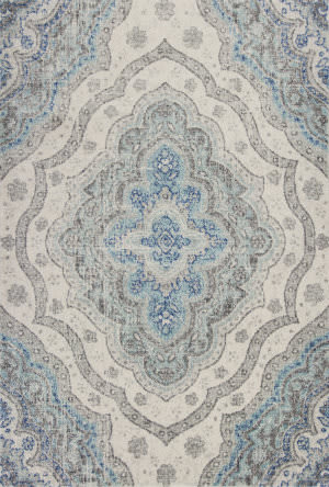 Kas Reina 9502 Grey - Blue Area Rug