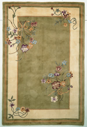 Kas Ruby Bouquet Sage 8937 Area Rug