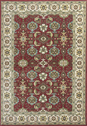 KAS Shiraz 5007 Red/Ivory Mahal Area Rug
