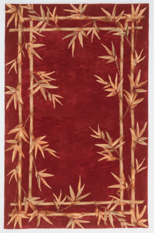 Kas Sparta Bamboo Border Red 3145 Area Rug