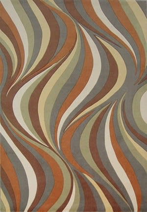 KAS Tate Waves 8515 Earthtone Area Rug