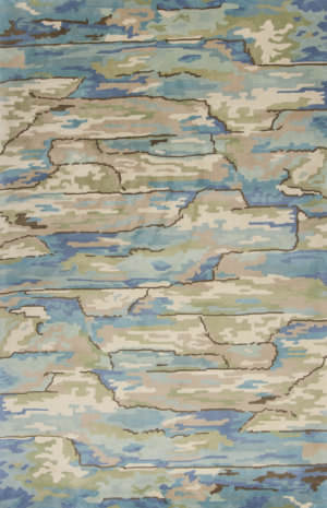 Kas Whisper 3002 Beige - Blue Area Rug