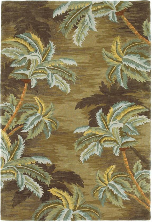 Kas Sparta Palm Trees Moss 3102 Rug Studio