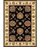 Kas Cambridge Floral Mahal Black-Ivory 7339 Area Rug