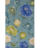 KAS Catalina 753 Blue Floral Oasis Area Rug