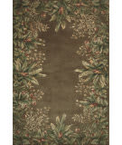 Kas Emerald Tropical Border Taupe 9000 Area Rug