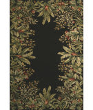 Kas Emerald Tropical Border Black 9001 Area Rug