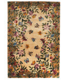 Kas Emerald Butterfly Garden 9019 Antique Beige Area Rug