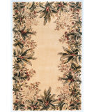 Kas Emerald Tropical Border 9022 Ivory Area Rug