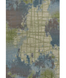 Kas Illusions 6207 Green-Blue Area Rug