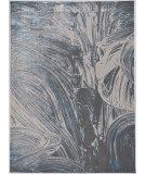 Kas Luna 7130 Silver - Blue Stroked Area Rug