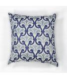 Kas Chateaux Pillow L108 Ivory - Blue