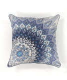 Kas Starburst Pillow L112 Blue - White