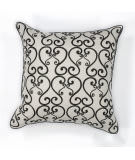 Kas Luminous Pillow L120 White - Black
