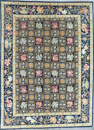 Kashee Tabriz Blue 9' x 12'3'' Rug