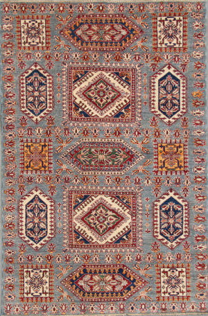 Kashee Royal Kazak OAK Grey Area Rug