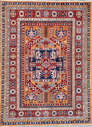 Kashee Royal Kazak OAK Gold - Red Area Rug