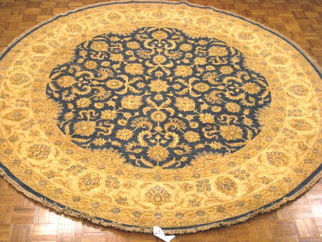 Kashee Lahore Oak Blue - Ivory Area Rug