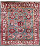 Kashee Noor Kazak Light Blue - Ivory 8'4'' x 9'4'' Rug