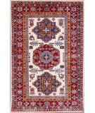 Kashee Royal Kazak Ivory - Rust 4'1'' x 6'1'' Rug