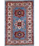 Kashee Royal Kazak Light Blue - Ivory 2' x 3'4'' Rug