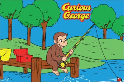 Fun Rugs Curious George George Fishing CG-01 Area Rug