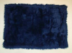 Fun Rugs Flokati DARK BLUE FLK-001 Dark Blue Area Rug