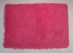 Fun Rugs Flokati Hot Pink FLK-003 Hot Pink Area Rug