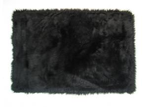 Fun Rugs Flokati BLACK FLK-007 Black Area Rug