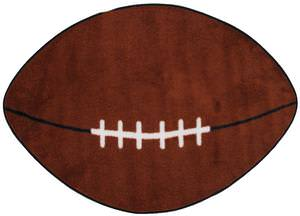 Fun Rugs Fun Time Shape Football FTS-009 Multi Area Rug