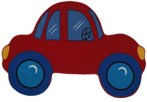 Fun Rugs Fun Time Shape Red Car FTS-027 Multi Area Rug