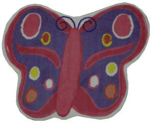 Fun Rugs Fun Time Shape Butterfly FTS-064 Multi Area Rug