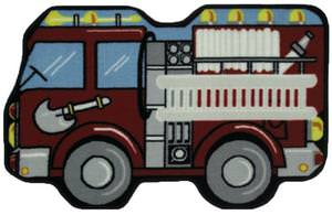Fun Rugs Fun Time Shape Fire Engine FTS-108 Multi Area Rug