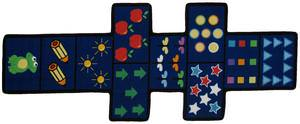 Fun Rugs Fun Time Shape Hopscotch w/Counters FTS-168 Multi Area Rug