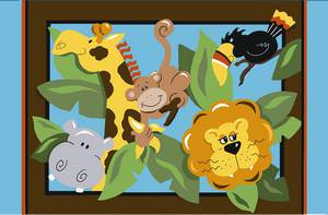 Fun Rugs Jade Reynolds In The Jungle JR-TSC-203 Multi Area Rug