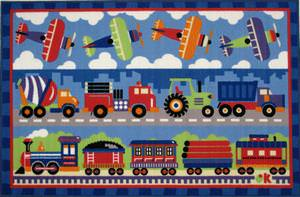 Fun Rugs Olive Kids Trains, Planes & Trucks OLK-003 Multi Area Rug
