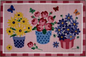 Fun Rugs Olive Kids Blossoms & Butterflies OLK-014 Multi Area Rug